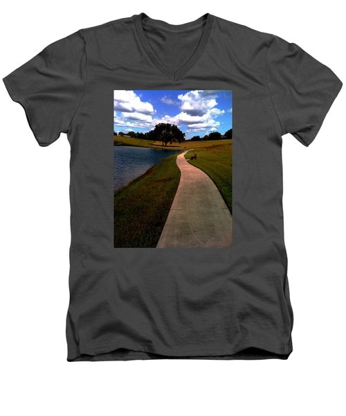 Private Park,fl. Men's V-Neck T-Shirt