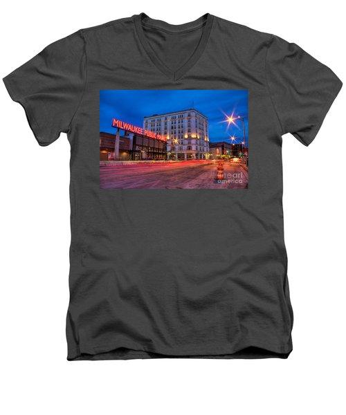 Public Market Zip Men's V-Neck T-Shirt