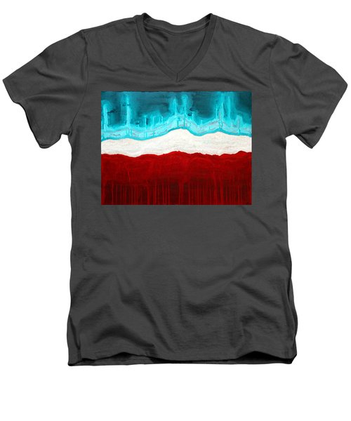 Pueblo Cemetery Original Painting Men's V-Neck T-Shirt