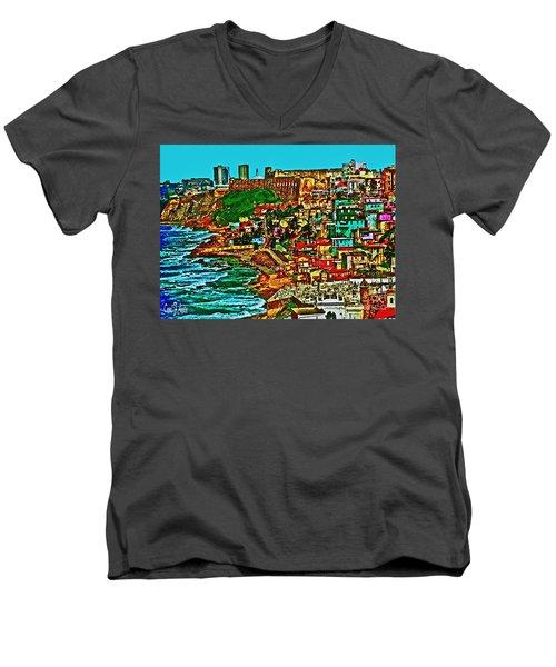 Puerto Rico Old San Juan  Men's V-Neck T-Shirt