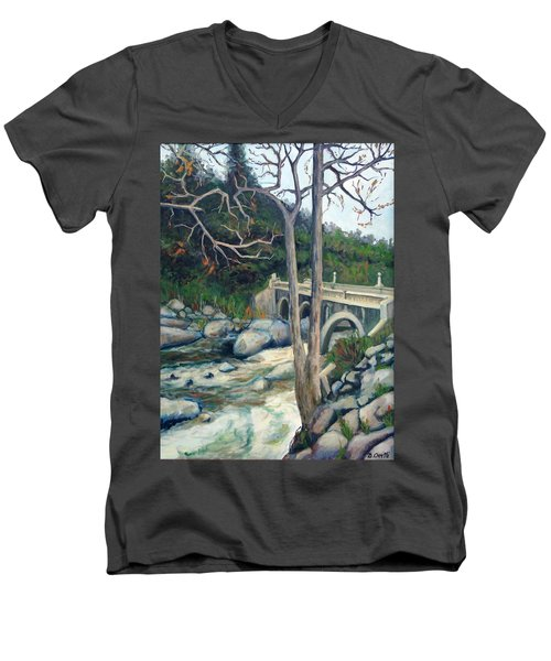 Pumpkin Hollow Bridge Men's V-Neck T-Shirt