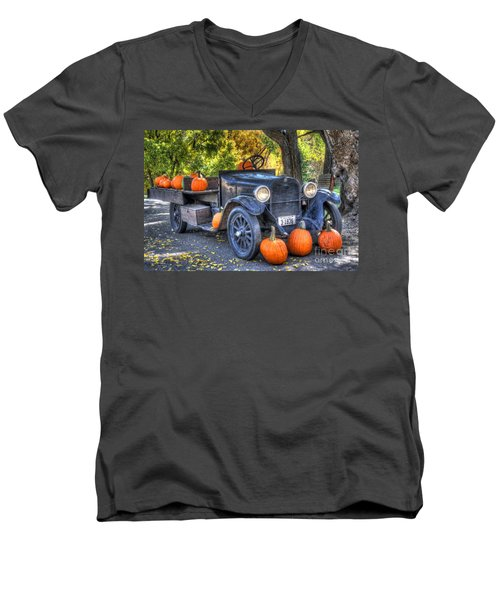 Pumpkin Hoopie Men's V-Neck T-Shirt