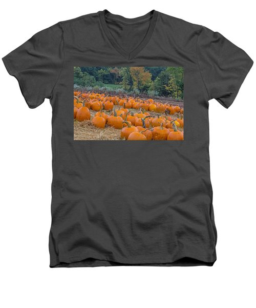 Pumpkin Parade Men's V-Neck T-Shirt
