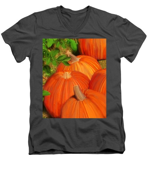 Pumpkins Pumpkins Everywhere Men's V-Neck T-Shirt