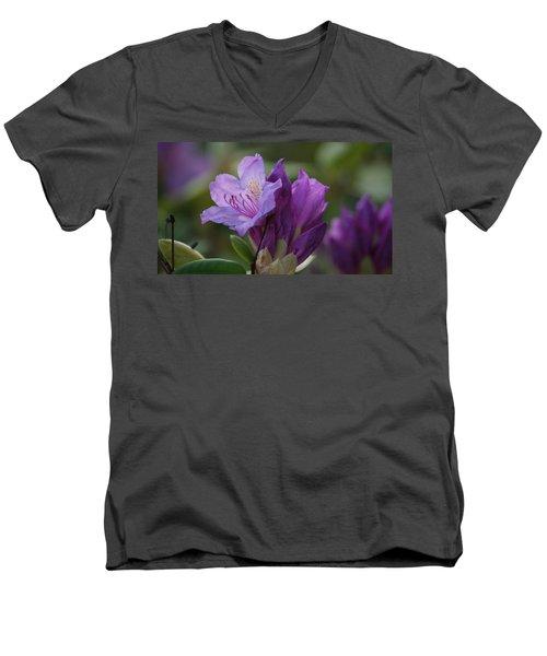 Purple Bloom Men's V-Neck T-Shirt
