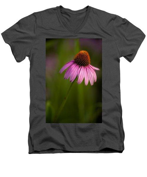 Purple Cone Flower Portrait Men's V-Neck T-Shirt