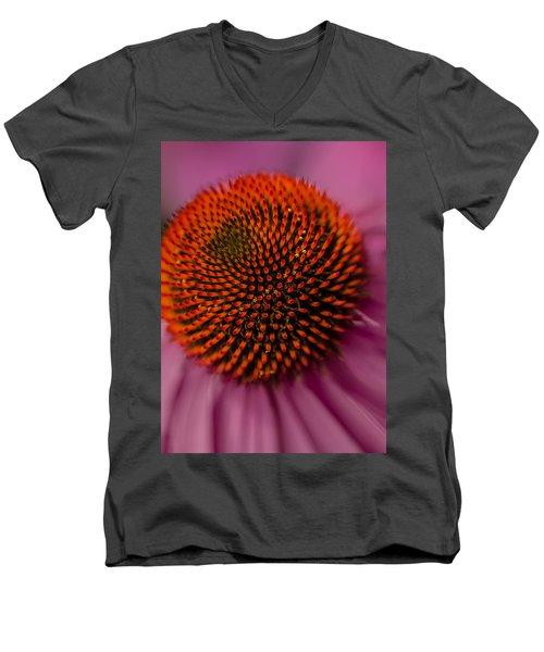 Purple Coneflower Men's V-Neck T-Shirt