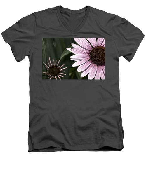 Purple Coneflower Imperfection Men's V-Neck T-Shirt
