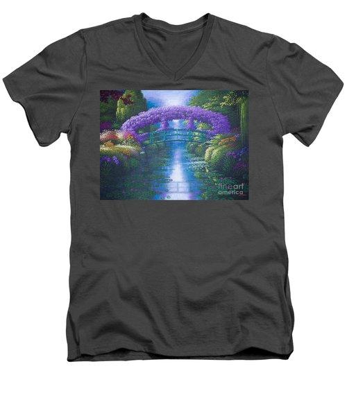 Purple Connection Men's V-Neck T-Shirt