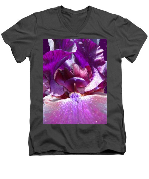 Men's V-Neck T-Shirt featuring the photograph Purple Diva by Brooks Garten Hauschild