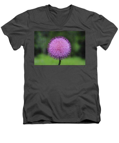 Purple Fuzz Men's V-Neck T-Shirt
