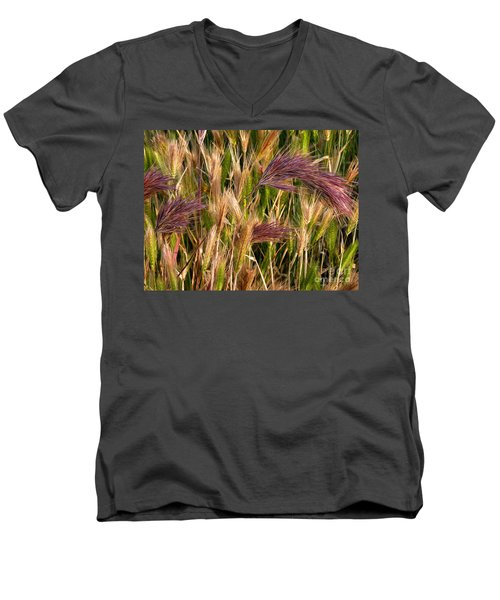 Purple Grasses Men's V-Neck T-Shirt