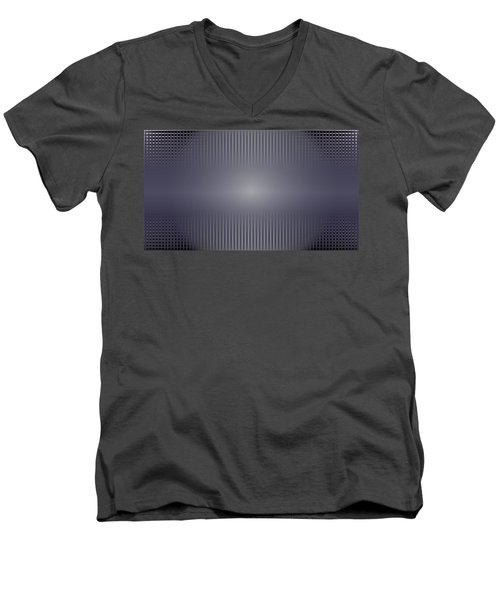 Purple Horizon Men's V-Neck T-Shirt by Kevin McLaughlin