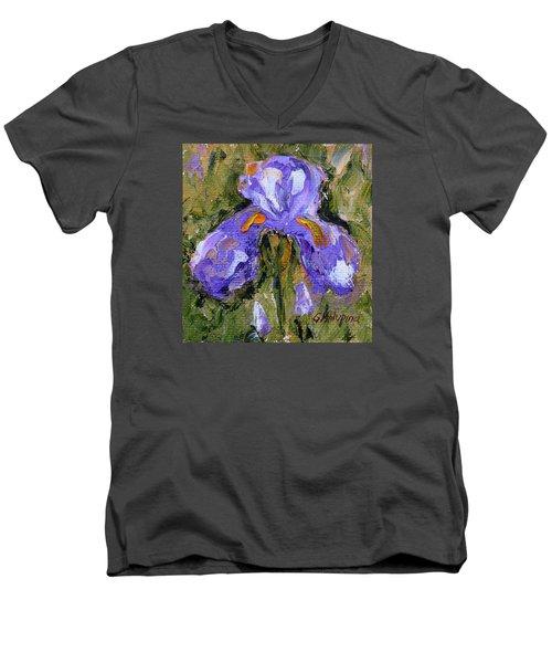 Purple Iris2 Men's V-Neck T-Shirt