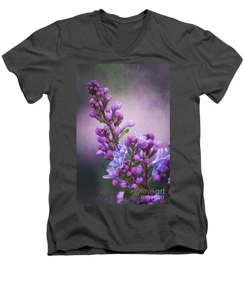 Purple Lilacs Men's V-Neck T-Shirt