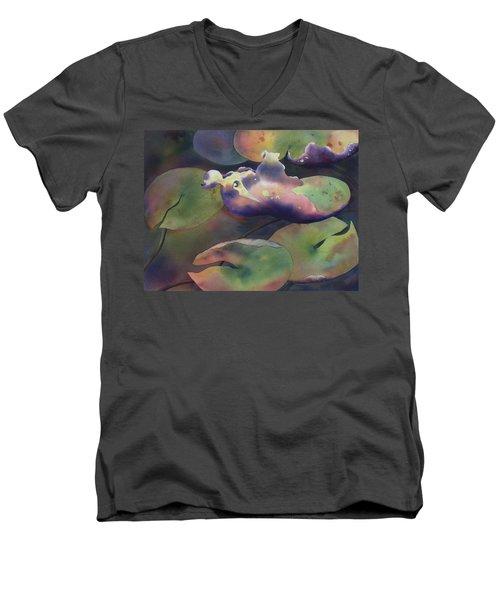 Purple Linings II Men's V-Neck T-Shirt