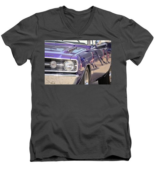Purple Mopar Men's V-Neck T-Shirt
