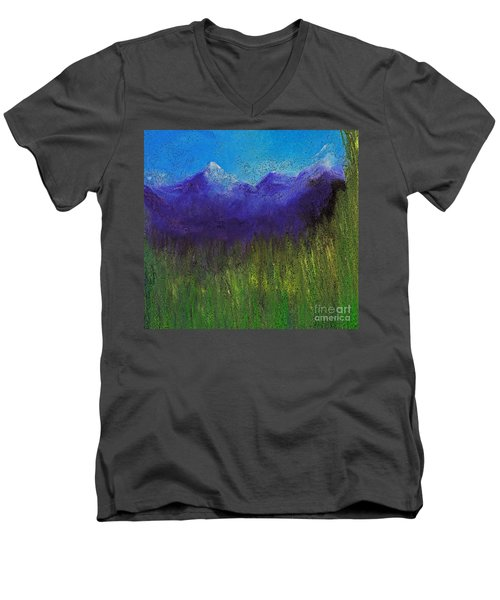 Purple Mountains By Jrr Men's V-Neck T-Shirt