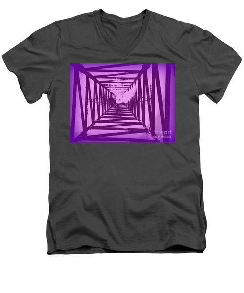 Purple Perspective Men's V-Neck T-Shirt by Clare Bevan