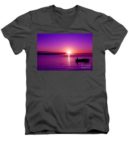 Purple Sunrise Men's V-Neck T-Shirt