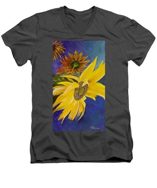 Puttin' On A Sunny Face Men's V-Neck T-Shirt
