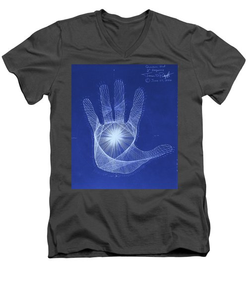 Quantum Hand Through My Eyes Men's V-Neck T-Shirt by Jason Padgett