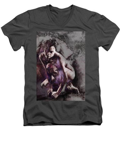 Quiescent With Texture Men's V-Neck T-Shirt