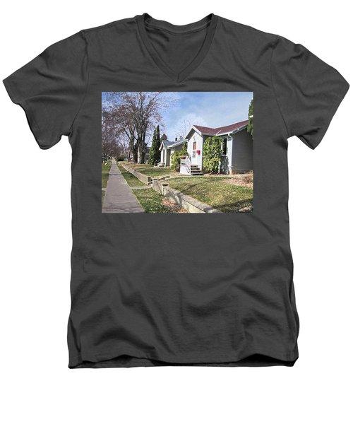 Quiet Street Waiting For Spring Men's V-Neck T-Shirt