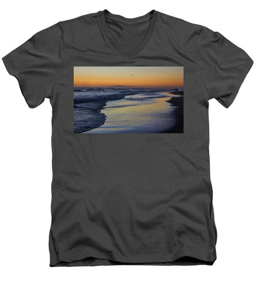 Men's V-Neck T-Shirt featuring the photograph Quiet by Tammy Espino