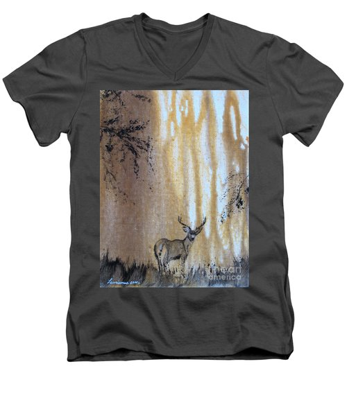 Quiet Time2 Men's V-Neck T-Shirt by Laurianna Taylor
