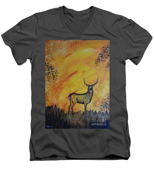Quiet Time3 Men's V-Neck T-Shirt by Laurianna Taylor