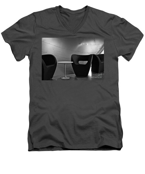 Quiet Zone Men's V-Neck T-Shirt by Linda Bianic