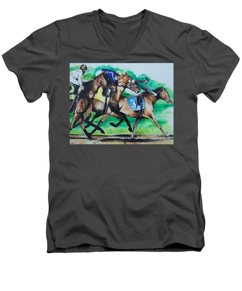 Race Day Men's V-Neck T-Shirt