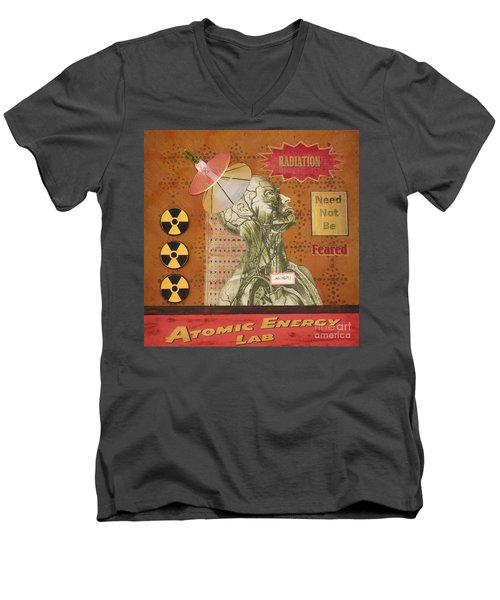 Radiation Need Not Be Feared Men's V-Neck T-Shirt by Desiree Paquette