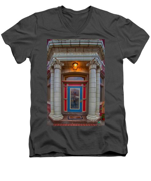Railey And Bro Bkg Co Building Men's V-Neck T-Shirt