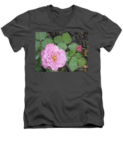 Rain Kissed Rose Men's V-Neck T-Shirt