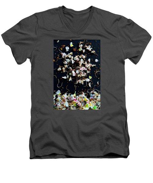 Rain Of Petals Men's V-Neck T-Shirt by Edgar Laureano