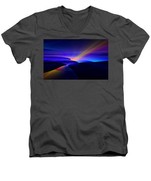 Rainbow Pathway Men's V-Neck T-Shirt