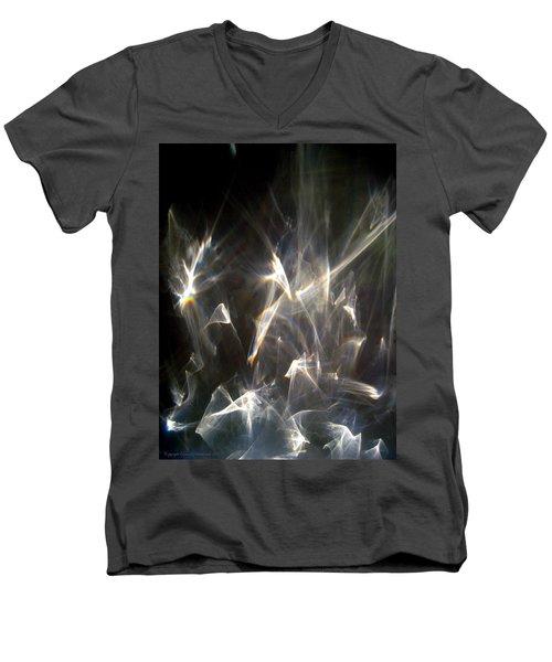 Rainbow Pieces Men's V-Neck T-Shirt by Leena Pekkalainen