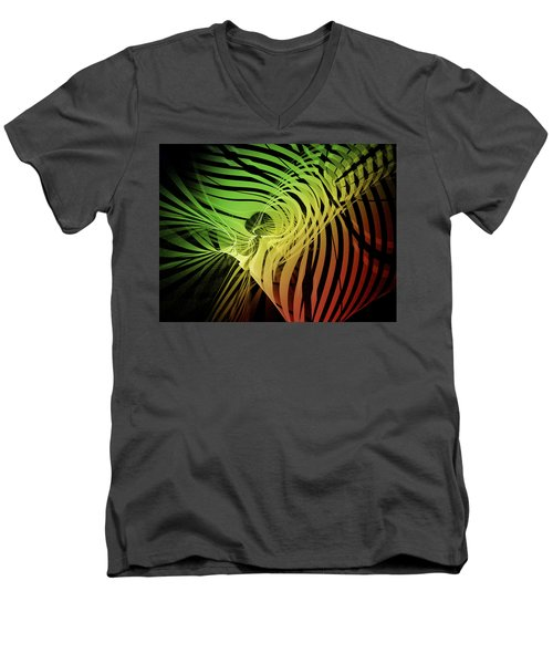 Rainbow Ribs Men's V-Neck T-Shirt by Richard J Cassato