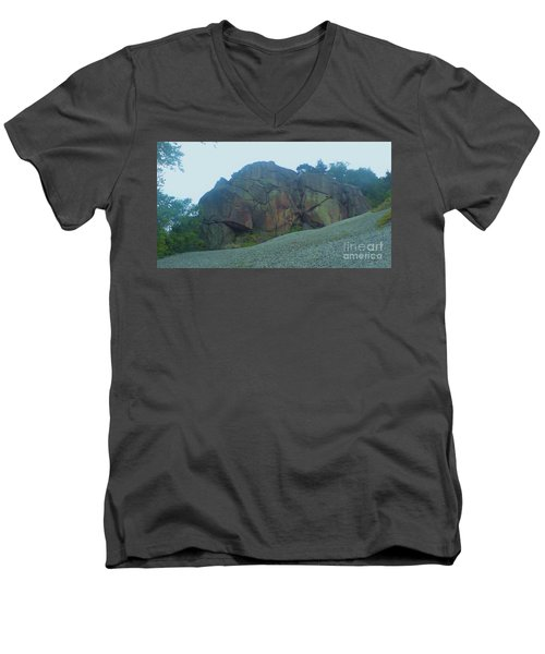 Men's V-Neck T-Shirt featuring the photograph Rainbow Rock by John Williams