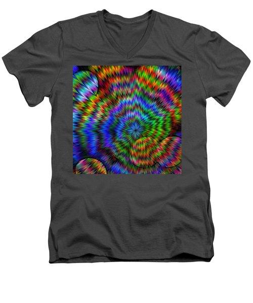 Rainbow Super Nova Men's V-Neck T-Shirt