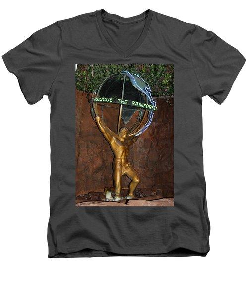 Men's V-Neck T-Shirt featuring the photograph Rainforest Appeal by David Nicholls