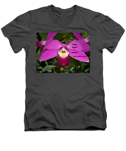 Ralph Waldo Emerson Men's V-Neck T-Shirt