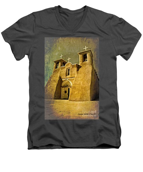 Ranchos Church In Old Gold Men's V-Neck T-Shirt