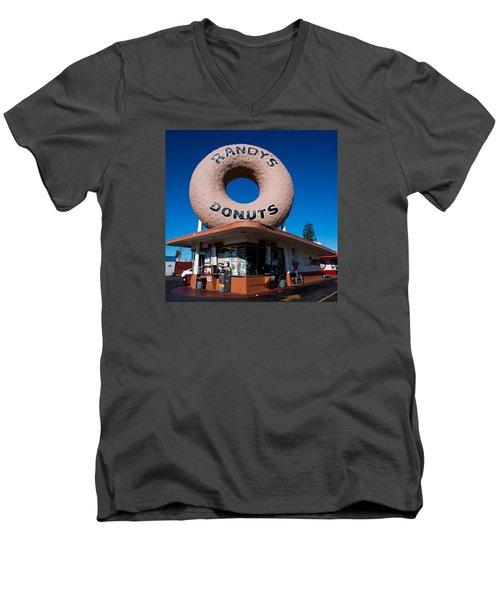 Randy's Donuts Men's V-Neck T-Shirt