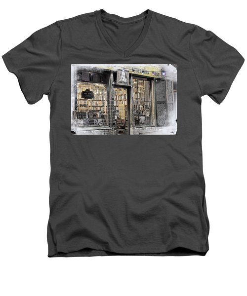 Rare Books Latin Quarter Paris France Men's V-Neck T-Shirt