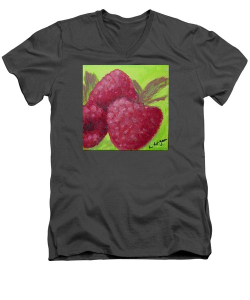 Raspberries Men's V-Neck T-Shirt