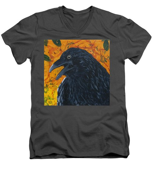 Raven Festival Men's V-Neck T-Shirt