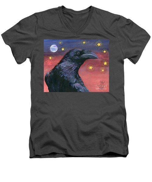 Raven Steals The Moon - Moon What Moon? Men's V-Neck T-Shirt